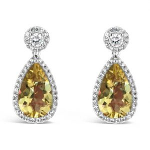 Katherine Earring Yellow Beryl
