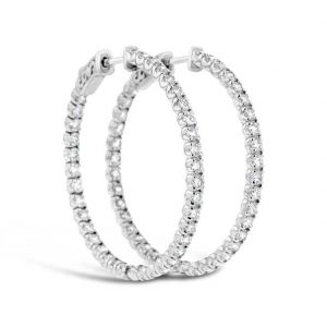 3ct diamond hoop earrings