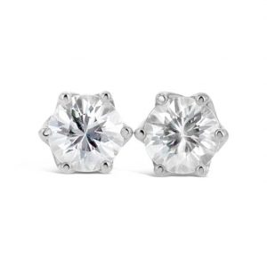 Natural White Zircon earrings