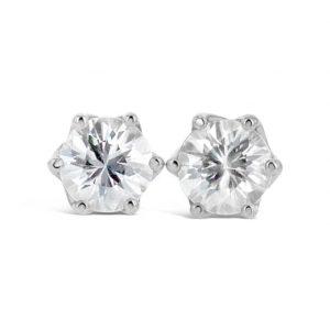 Natural White Zircon earrings