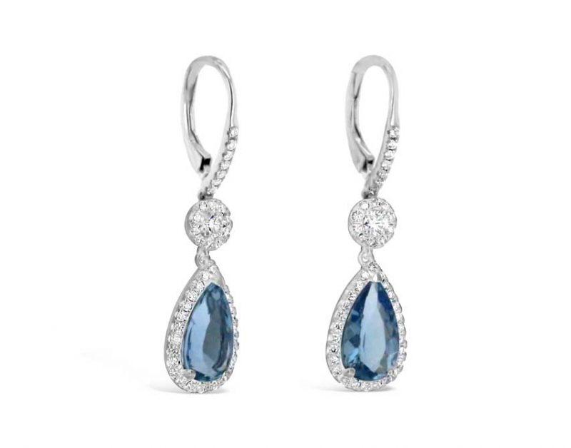 Katherine Aquamarine drop earrings