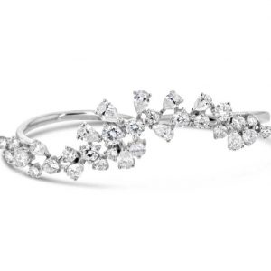 Diamond double finer ring