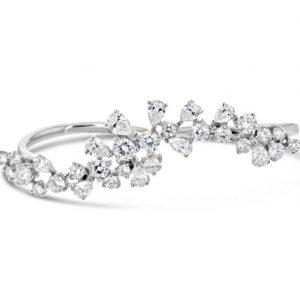 Diamond double finer ring